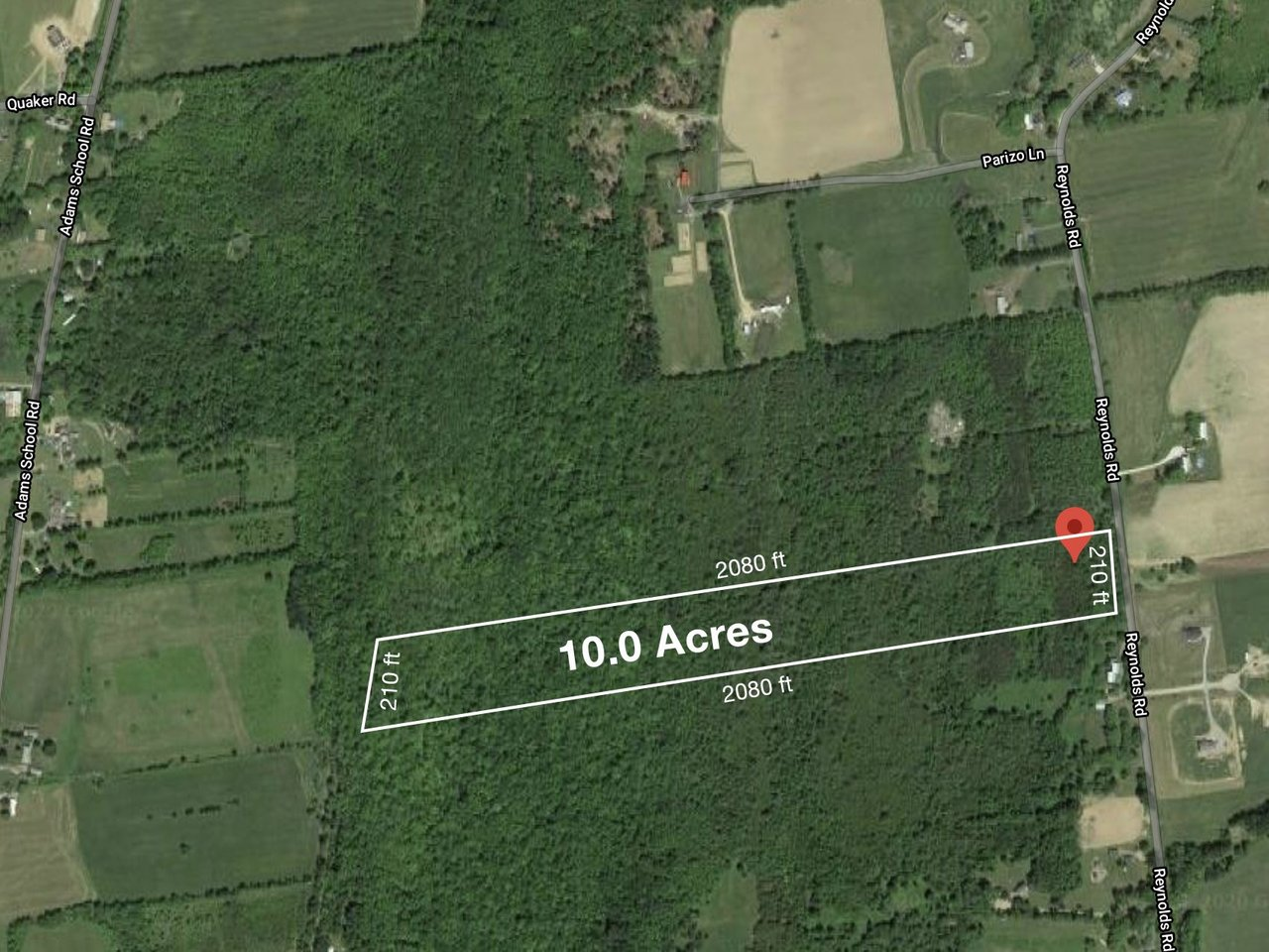 wooded 10 acre lot